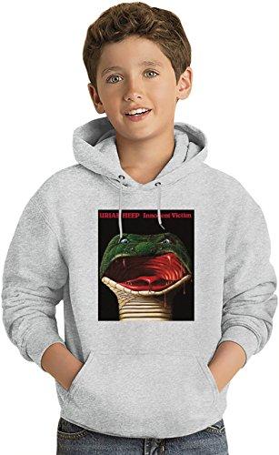 Uriah Heep Innocent Victim Album Cover Felpa leggera con Cappuccio per Bambini Lightweight Hoodie For Kids | 80% Cotton-20%Polyester| Fashion 7-8 yrs