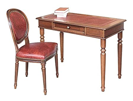 Composizione scrittoio e sedia vera pelle