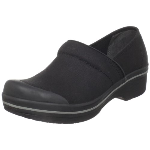 Dansko Women's Volley Clog,Black Coated Canvas,38 EU/7.5.-8 M US