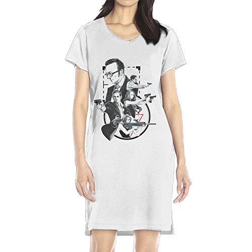 OMALA Person Of Interest Season 5 2 Female Exclusive Clothing White S (White Collar Season 2 Blu Ray compare prices)