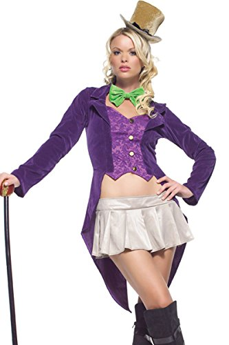 4Pc. Magician Costume, Includes Jacket, Skirt, Tie, And Top