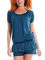 ZZ_Zergatik Camiseta Manga Corta Ados (Azul)