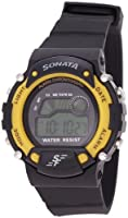 Sonata Digital Grey Dial Men's Watch - NG7982PP01J