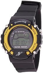 Sonata Digital Grey Dial Mens Watch - NG7982PP01J