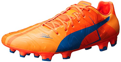 PUMA Men's Evopower 1 H2H FG Soccer Shoe, Orange Clown Fish,