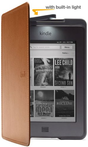 Amazon Kindle Touch Lighted Leather Cover, Saddle Tan