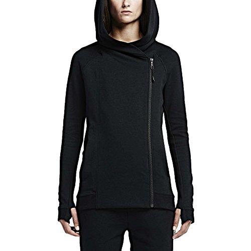 nike women 39 s tech fleece hooded cape jacket black large. Black Bedroom Furniture Sets. Home Design Ideas