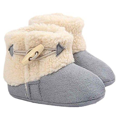 Auxma Baby schönen Herbst Winter warme weiche Sohle Schneeschuhe weiche Krippe Schuhkleinkind Stiefel