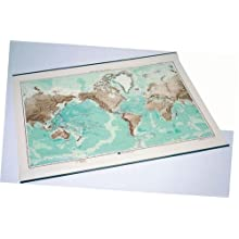 American Educational Bathymetric Map, 38&#034; Length x 50&#034; Width