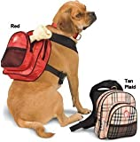 SarahTom 9-Inch Pet Backpack for Dogs, Red