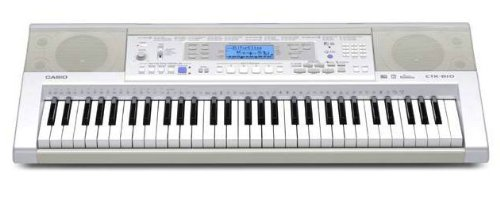 CASIO CTK-810 - Electronic Portable Keyboard With Piano Style Touch Sensitive Keys And General MIDI