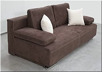 edles bettsofa schlafsofa hato mit bettkasten federkern bezug aus microfaserstoff 2007 brown. Black Bedroom Furniture Sets. Home Design Ideas