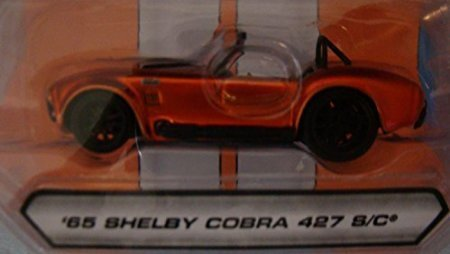 Jada BIGTIME MUSCLE 1:64 scale '65 Shelby Cobra 427 S/C Convertible - Metallic Orange