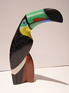 Toucan Statue Carved and Painted Wood 21cm Tall Fair Trade ...