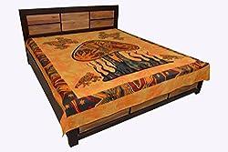 Handicrunch Mandala Wall hanging, Home dcor tapestry, Jaipur Kala Kendra Indian Bed Cover Double Bed Sheet Cotton Design Dye Mushro...
