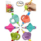 Pencil Grips, Firesara 2018 New Original Breakthrough Assorted Writing Aid Grip Trainer Posture Correction Finger Grip for Kids Preschoolers Children Adults Special Needs for Lefties or Righties(4PCS)