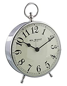 Old Fashioned Circular Chrome Alarm Clock With