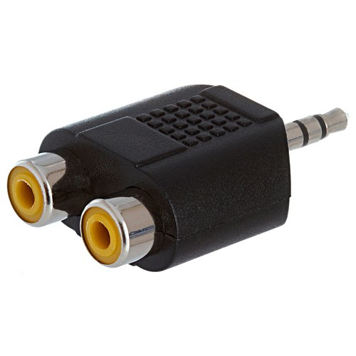 Parts Express 3.5mm Stereo Plug To Dual RCA Jack Adapter