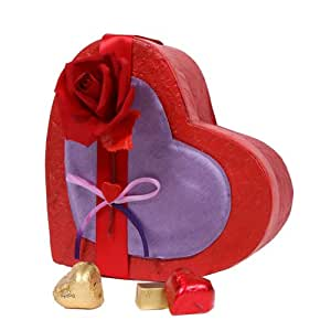 Red Temptation - Heart Shaped Box with Chocolate Variety