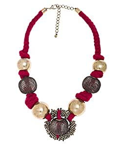 Amazon.com: Blu Bijoux Grand Red Mesh Necklace: Blu Bijoux: Jewelry