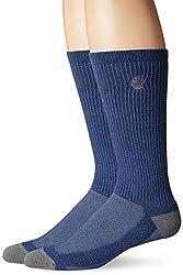 Timberland Men's Coolmax Socks, Denim Heather, One Size