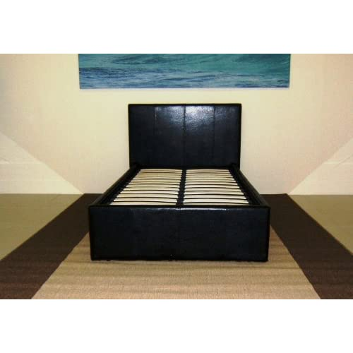 bedsandbeds limited, Single 3ft Gas Lift Up Ottoman Storage Bed In Black Brown White Or Pink (Black)