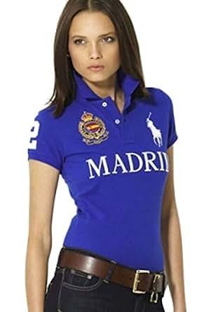 Polo Ralph Lauren Womens Shirt Blue Madrid (L) at Amazon