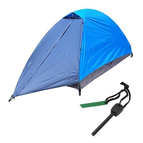 TRACK MAN アルミ製 防水 テント ダブルウォーム 式 1人用