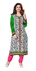 AMP IMPEX Ethnicwear Women's Dress Material White Free Size
