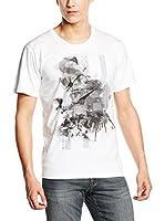 Trussardi Jeans Camiseta Manga Corta (Blanco / Negro)
