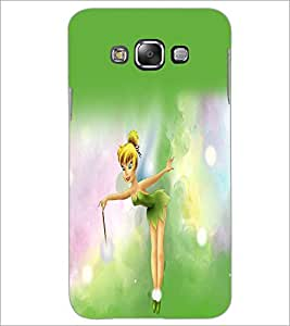 PrintDhaba Cute Girl D-2186 Back Case Cover for SAMSUNG GALAXY A7 (Multi-Coloured)