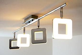 Led lampadario con faretti mobili plafoniera new braccio for Lampadari a led