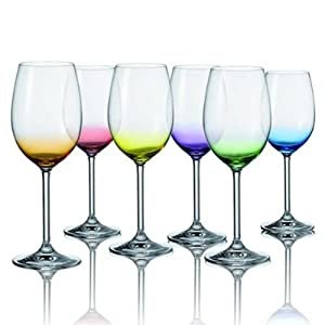 leonardo daily verres vin ensemble de 6 couleurs. Black Bedroom Furniture Sets. Home Design Ideas