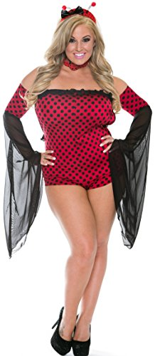 Delicate Illusions Plus size womens Sexy Ladybug Costume