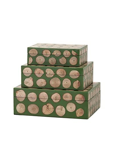 Max & Nellie Peyton Set of 3 Wood Disc Boxes