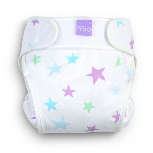 Bambino Mio Miosoft Cloth Diaper Cover - Hook & Loop - Cool Stars - Newborn