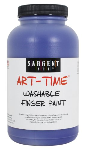 Sargent Art 22-9450 16-Ounce Art Time Washable Finger Paint, Blue