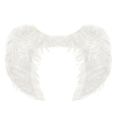 60*45cm Feather Angel Wings Christmas Halloween Party Supplies Performing Costume