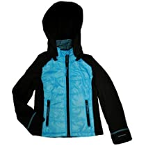 London Fog Girls 7-16 Bubble Trans Jacket (S(7/8), Turquoise)