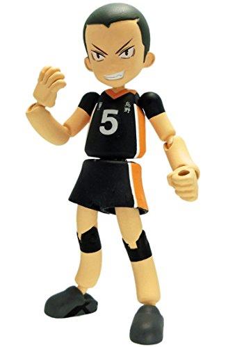 Takara Tomy Haikyuu!! PG04 Playgyure Tanaka Ryu-nosuke 8cm Figure - 1