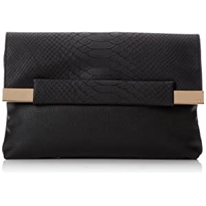 French Connection Runaway FCSC0031 Clutch,Black,One Size