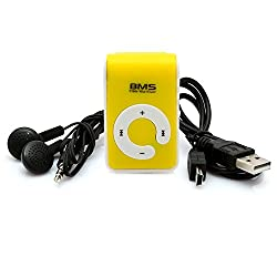 BMS Pro MP3 Music Player With 2 GB Micro SD Card (Yellow)