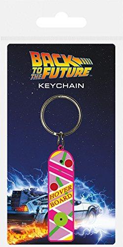 Set: Ritorno Al Futuro, Hoverboard Portachiave (6x4 cm) E 1 Sticker Sorpresa 1art1®