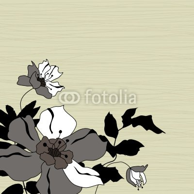 Wallmonkeys Peel and Stick Wall Decals - Floral Background - 36