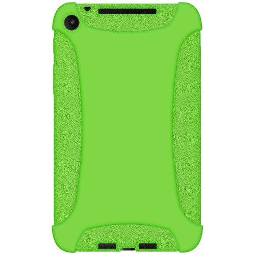 Amzer Silicone Jelly Soft Skin Fit Case Cover for Asus New Nexus 7/Google New Nexus 7, Green (AMZ96136)