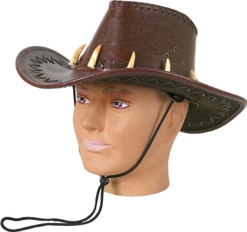 Adult Men's Brown Crocodile Dundee Costume Hat