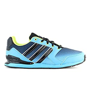 Adidas Streetrun Vll K Shoes - Solarblue/black/Solarslim - Boys - 3.5