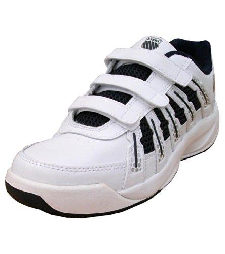 K-Swiss Optim II Omni Strap Boys Leather Tennis Velcro Trainers Shoes white