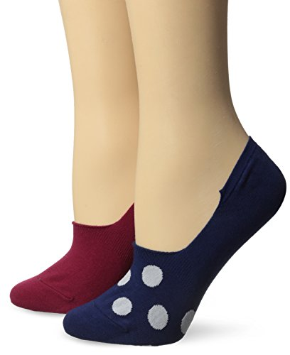Keds Women'S Rally Dot Low Cut Sneaker Sock 2-Pack, Navy, 9-11