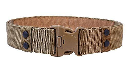 Uomini 55MM nylon Tactical Belt Rescue regolabile Duty No Metal-Khaki